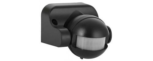 Датчик движения ДД 009 черный , макс. 1100Вт 180° 12м IP44