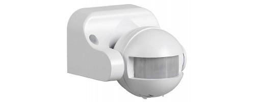 Датчик движения ДД 009 белый , макс. 1100Вт 180° 12м IP44