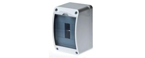 Щит распред. ЩРн-П-4 IP30 пластиковый белый прозрачная дверь КМПн 2/4