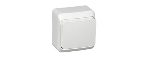 Выключатель Октава 1х клав., белый, наруж устан.