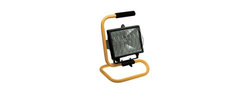 Прожектор ИО-500вт переносной с решеткой на подставке с лампой