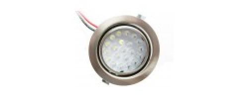Светильник встраиваемый светодиодный 1,3Вт 105лм FT9251 титан De Fran
