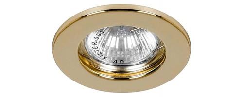 Светильник встраиваемый G5,3 ИВО-50Вт DL10 золотой Feron