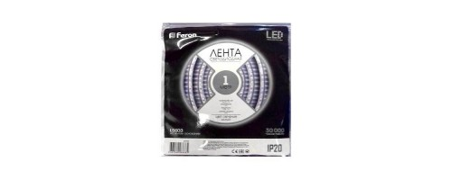 Лента LED 60/м 4,8вт/м 12в белый IP20 (1м)