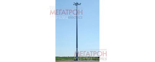 Мачты освещения ВМО с мобильной короной высотой от 16 до 30 метров