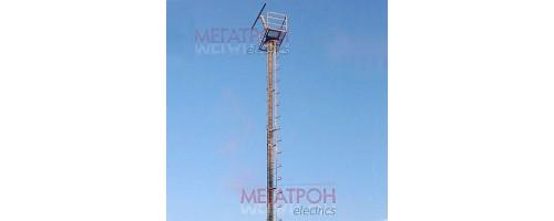 Мачты освещения ВМОНТ трубчатые со стационарной короной и трапом  16-36 метров.