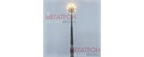 Мачты освещения ВМОТ со стационарной короной высотой 16, 18, 20 метров.