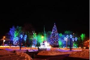 Новогодняя подсветка г.Вологда