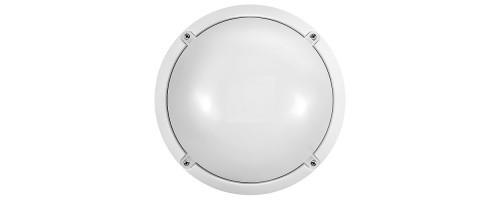 Светильник светодиодный ДБП-12Вт 900лм 4000К круглый белый пластик IP65 71686 OBL-R1