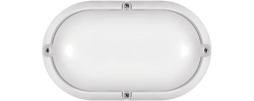 Светильник светодиодный ДБП-7Вт 520лм 4000К IP65 овальный пластиковый белый