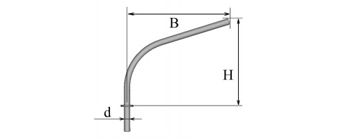 Кронштейн однорожковый К12,0-2,5