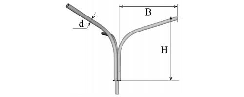 Кронштейн трехрожковый К31,0-1,5