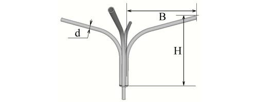 Кронштейн четырехрожковый К41,5-1,5