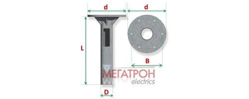 Закладная деталь фундамента опоры  ФМ-3,0-0,377 (d610мм)