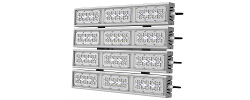 Прожектор светодиодный ДО-316 Вт SVT-STR-M-79W-QUATTRO с оптикой