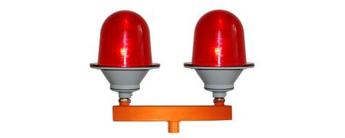 Заградительный огонь ЗОМ-75Вт-220В, красный, сдвоенный